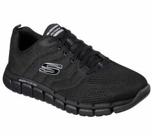black skechers memory foam shoes