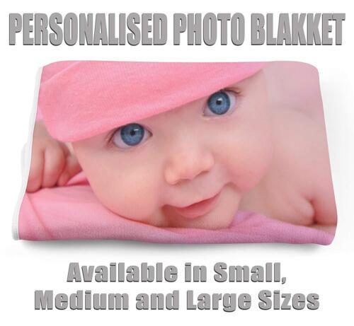 azul de bebé y bebé Manta de fotos personalizado disponible en blanco Lona 35 Ltd
