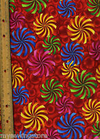 Color Quake 2 Quilt Quilting Fabric By Half Yard 5497-205 Geometric Multicolor