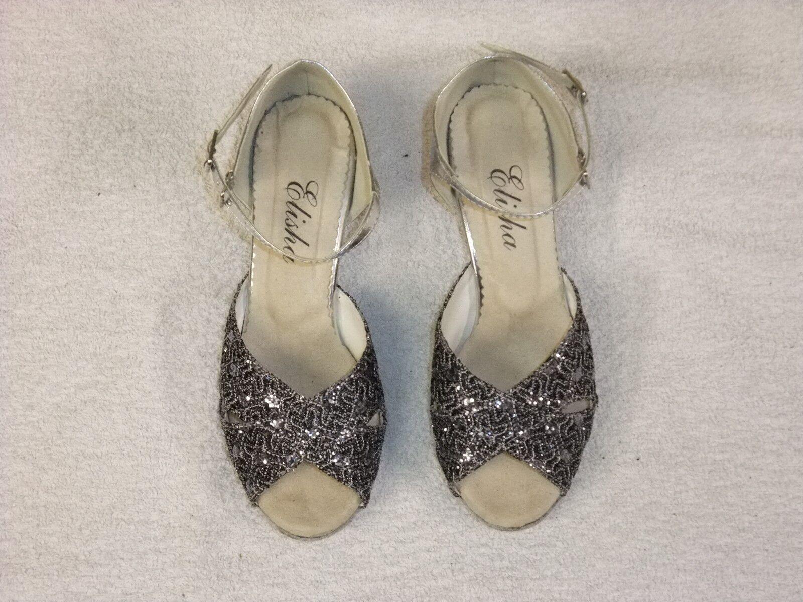 Ladies Silver Elisha Dance shoes Size 3 Latin Sandals