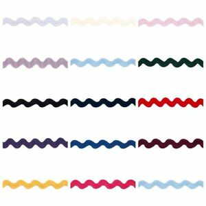 Medium-Width-Ric-Rac-Braid-Trim-14-Colours-Volume-Savings-amp-Free-Postage