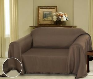 BROWN-CIELO-JACQUARD-FURNITURE-THROW-COVER-FANCY-FRINGE-BORDER-SLIPCOVER-SOFA