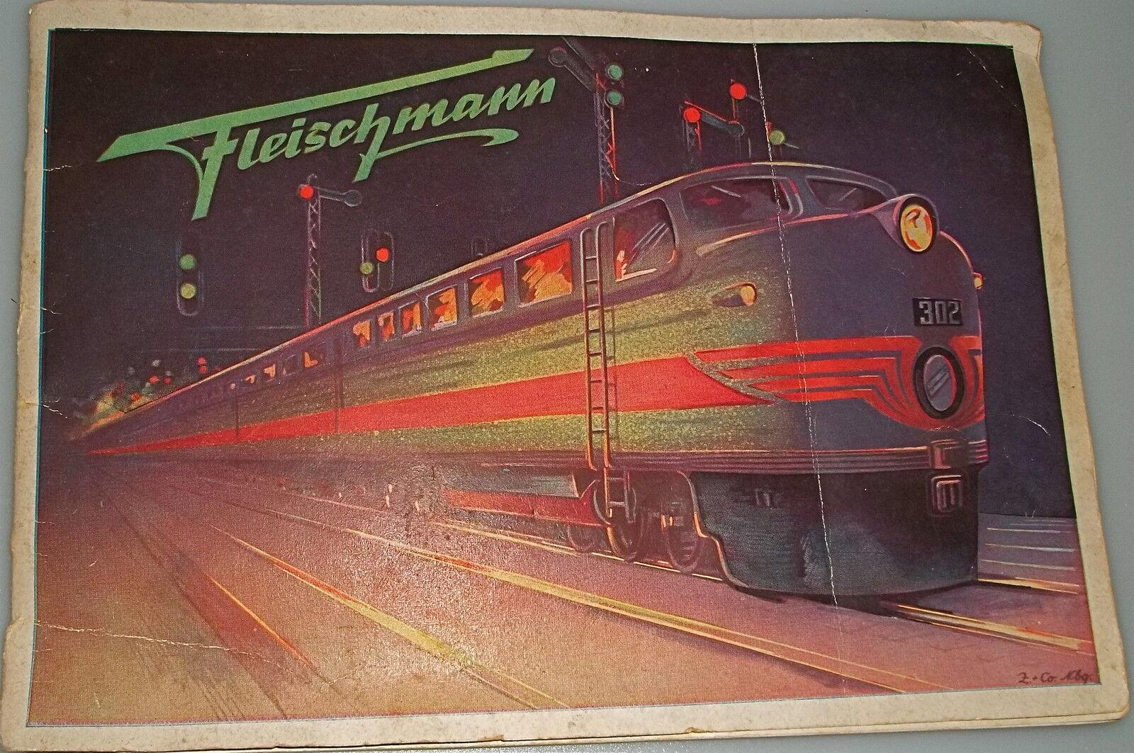 Fleischmann catalogo 1951 USATO completamente matita voci legame Å