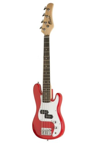 """RED New Raptor 38/"""" Kid/'s 3//4 Size Junior Kid/'s 4 String Electric P Bass Pack"""
