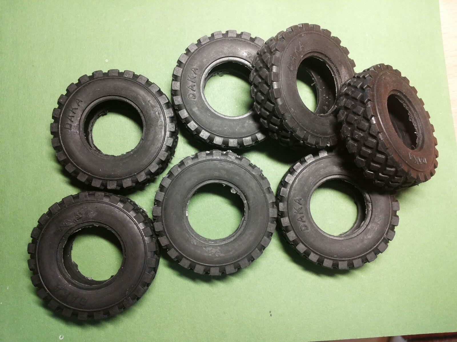 7psc Daka rubber tire for WPL scale 1 16 resin kit 120 mm