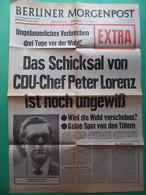 Extrablatt 1975 - Raf - Entführung Peter Lorenz
