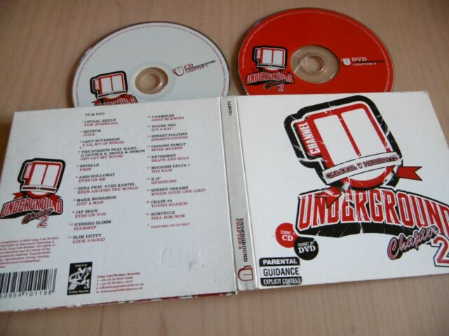 CHANNEL U PRESENTS UNDERGROUND CHAPTER 2 CD + DVD PA LETHAL BIZZLE STREETS E-S
