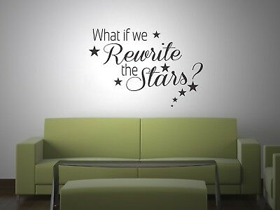 REWRITE THE STARS WALL STICKER DECAL TRANSFER THE GREATEST SHOWMAN INSPIRED