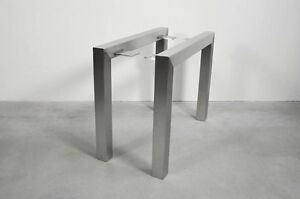 Elegant Image Is Loading Stainless Steel Table Legs U Shaped Handmade In
