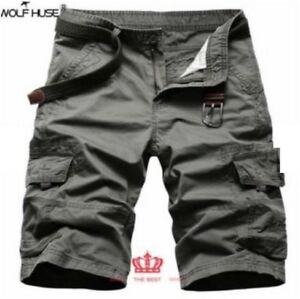 BLACK-MEN-039-S-CARGO-SHORT-SIZE-36