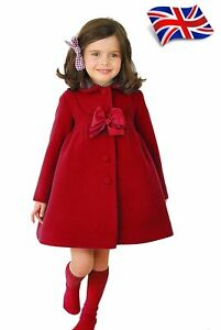 UK-Seller-New-Elegant-Girls-Kids-Cute-Pretty-Jacket-Coat-Outwear-3-8-Years-3003