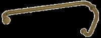 Crl Antique Brass 8 Pull Handle And 24 Towel Bar Bm Series Combination Wit...
