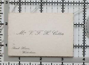 Antique-Calling-Card-Mme-V-Fendue-Banque-Hous-Westerham