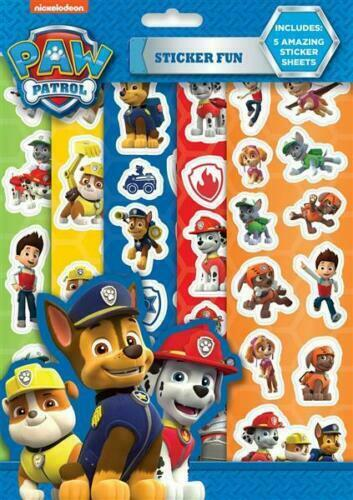 Paw Patrol  Fun Stickers Sheets Books For Kids Great Party Bag Fillers