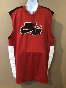 a12c2f4d38e VINTAGE NIKE AIR BASKETBALL JERSEY RED BLACK WHITE RARE MENS SIZE Xl ...
