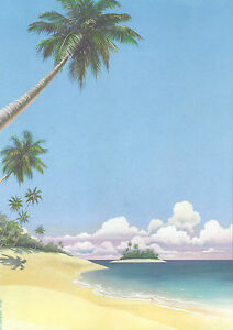 Decadry-OPF-3650-Tropical-Island-Themed-A4-Letterhead-Writing-Printing-Paper
