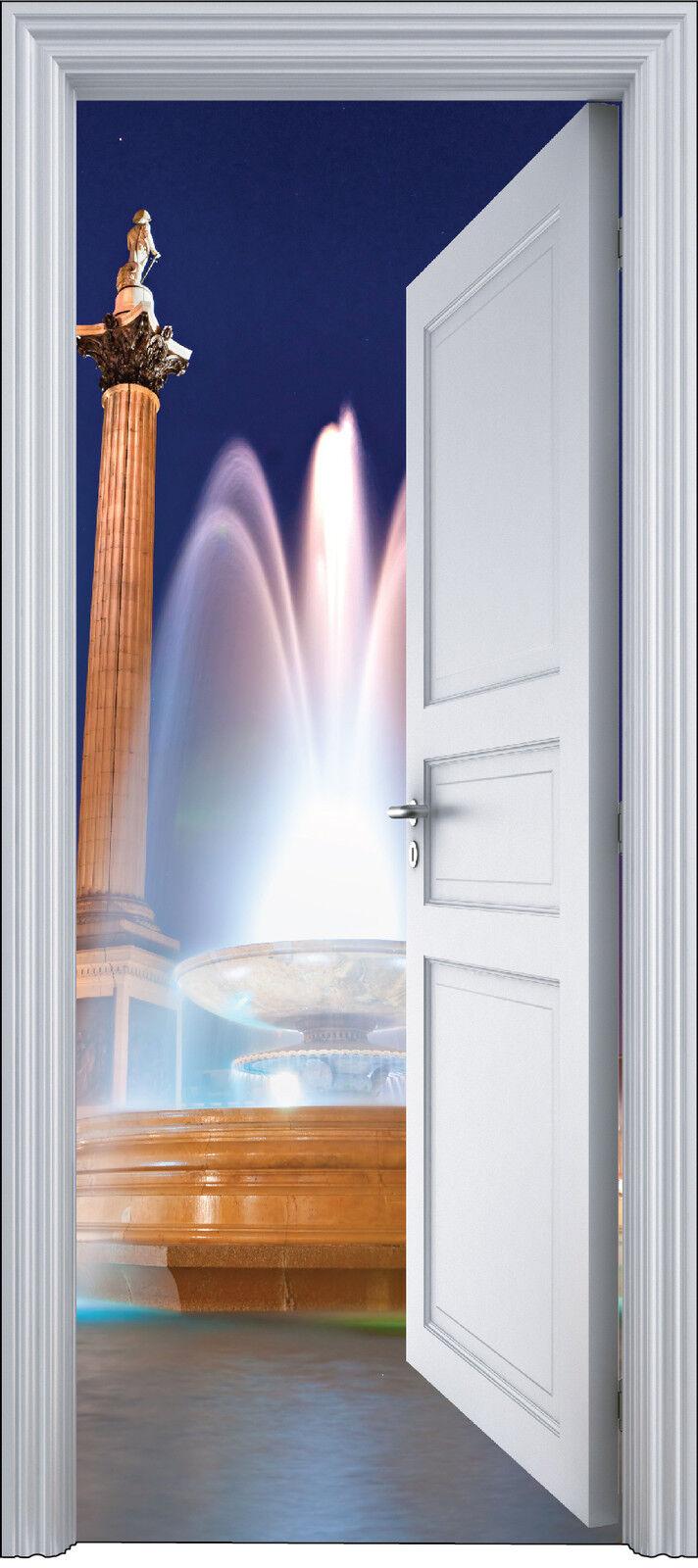 Adhesivo Puerta Trompa Trampantojo Decoración Fontaine 90x200 cm Ref 2129
