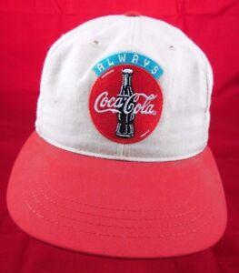 Vintage Always Coca Cola Tan And Red Coke Snapback Hat Cap Retro  1d14e825905