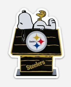 Pittsburgh Steelers MAGNET - custom Die Cut Snoopy Woodstock NFL Football Juju