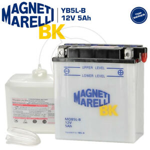 BATTERIA MAGNETI MARELLI YB5L-B 5AH PER PIAGGIO VESPA PK XL HP 50