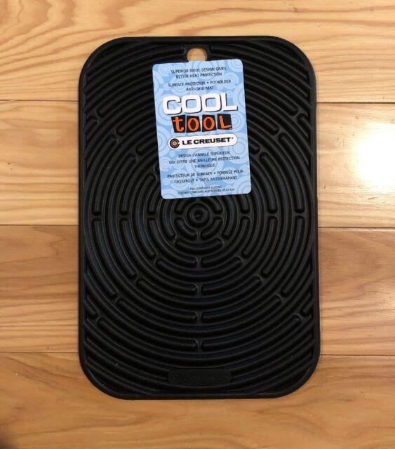 Black Le Creuset 9 5 X 6 Silicone Trivet Mat Potholder Hot Pad Jar Gripper For Sale Online
