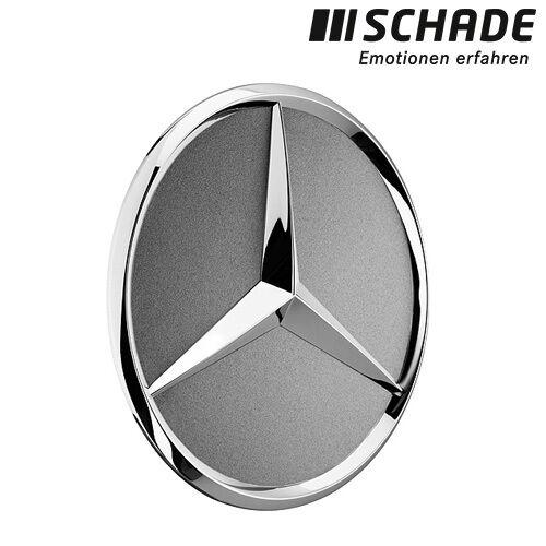 ORIGINALE Mercedes-Benz MOZZI copertura STELLA CROMO LUCENTEZZA ARGENTO b66470202