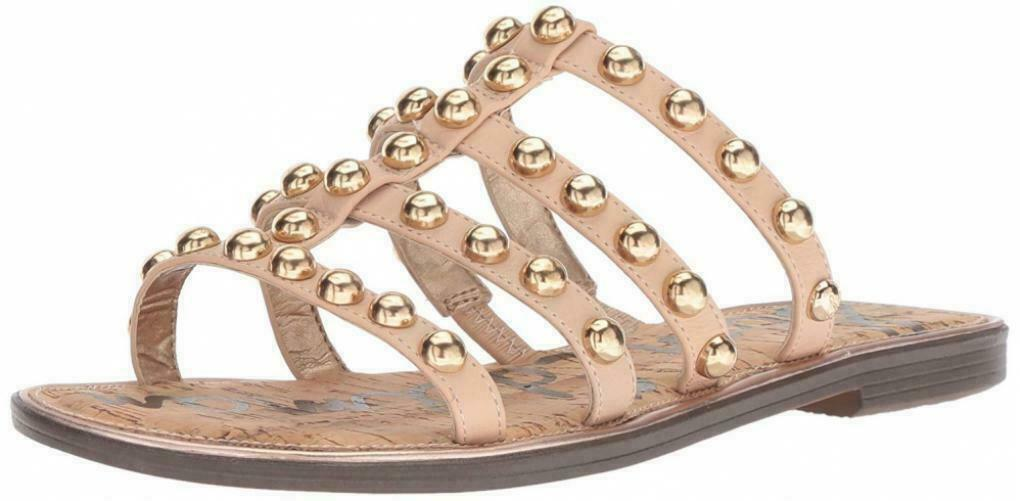 Sam Edelman Glenn Natural Leather Sandals Size 6.5 M