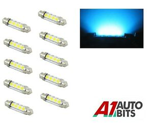 10X-42-mm-C5W-239-4-LED-Interior-Festoon-domo-coche-Numero-De-Matricula-Bombilla-Luces-Azul