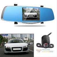 "1080P FHD 5""  Dual Lens Video Recorder Dash Cam Rearview Mirror Camera Car DVR"