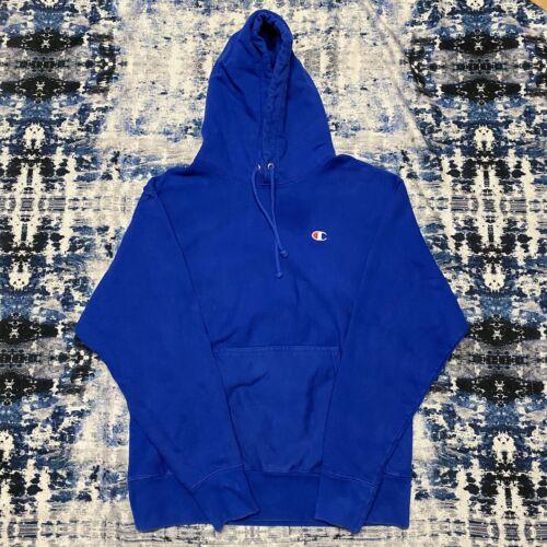 Vintage Champion Reverse Weave Hoodie  Blue Large