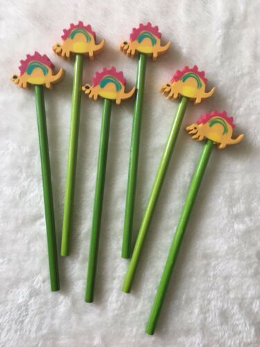 Set of 6 Animals Pencil Toppers Party Bag Fillers Pen Eraser Football Children