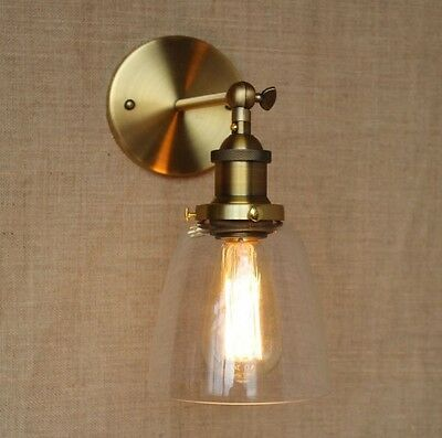 Brass Vintage Industrial Wall Lamp Light Home Lighting Indoor Decor Wall Sconce