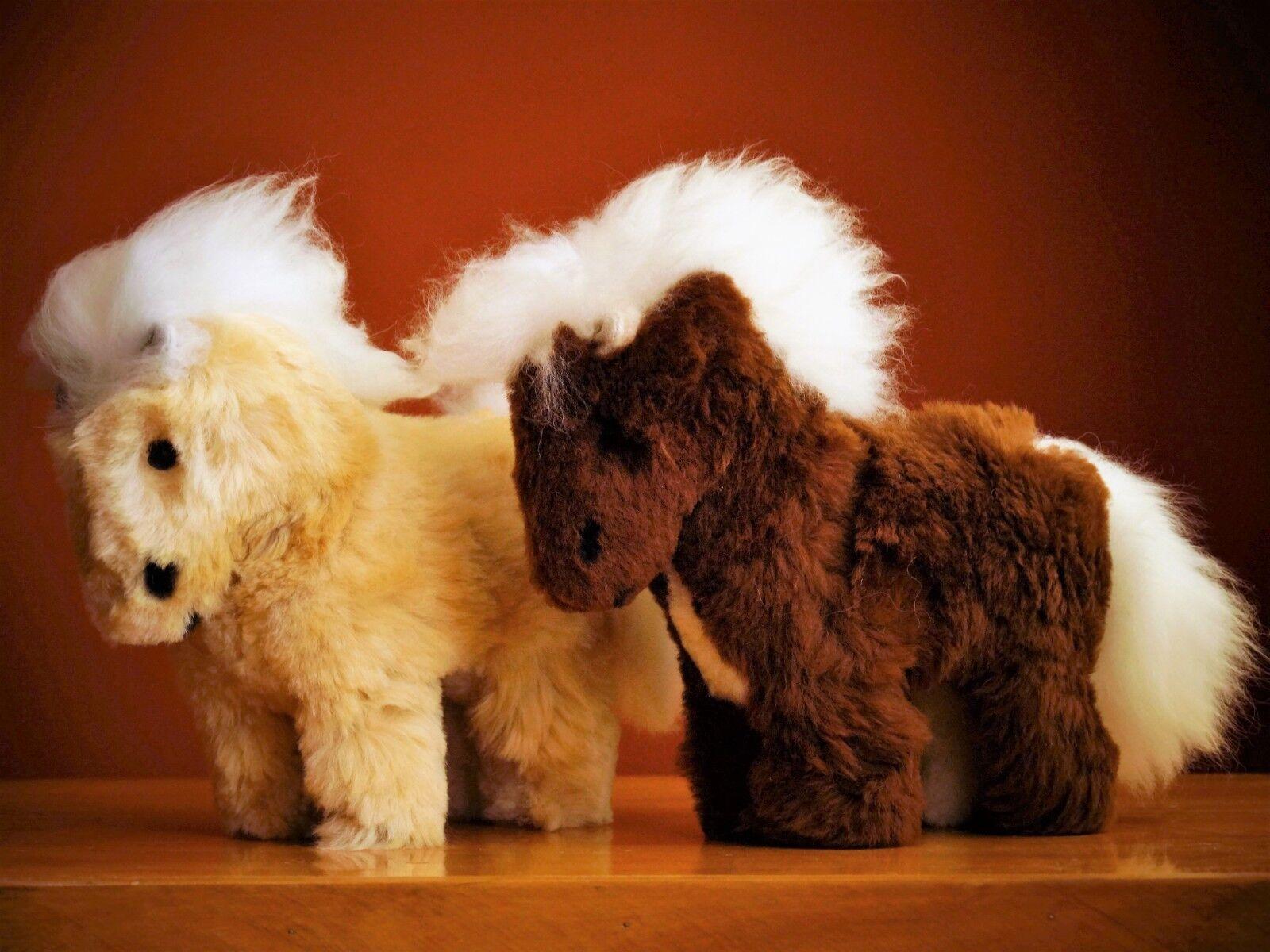 20 Handmade, Alpaca Fur Toy Horse, Poney, Teddy Bear, Soft, Gifts, Anti stress