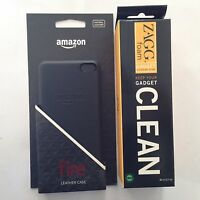 Original Leather Case For Amazon Fire Phone Black + Free Zagg Foam Cleaner