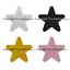 Premium Quality Glitter Sliver Gold Black STAR Envelope GIFT Seal bag Sticker