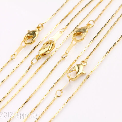 Lots 5//20Pcs Lobster Clasps Copper Charms Chains Necklace Jewelry Findings 43cm