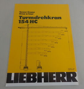 Data Sheet / Technical Description Liebherr Tower Crane 154 HC From 04/1988