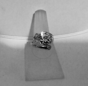 Details about STERLING SILVER CUSTOM MADE RING- from a NEW ANTIQUE SPOON by  P& B Shipped FREE