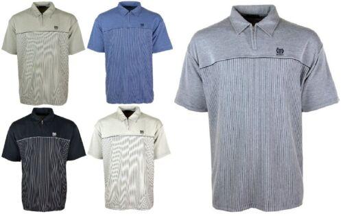 Men/'s Maniche Corte Polo T-shirt//Maglia Top Collo con chiusura a zip s//m-5xl