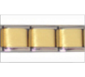 SET of 3 GOLD TONE MATTE CENTRE Italian Charm Starter 9mm Links x3 GMC001