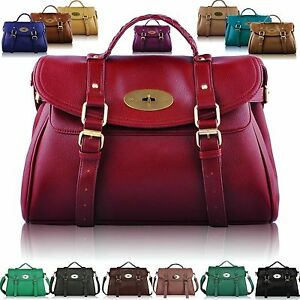 Details about Large Womens Designer Leather