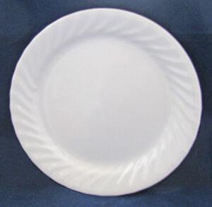 Image is loading Corelle-ELEGANCE-Enhancements-White-Swirl-DINNER-PLATE & Corelle ELEGANCE Enhancements White Swirl DINNER PLATE | eBay