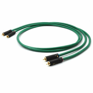 2328-Hifi-Silver-plated-2RCA-Cable-High-Quality-6N-OFC-HIFI-RCA-audio-cable