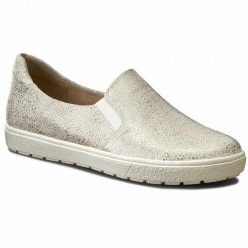 T 37-40,5 Caprice Femmes Pantoufles Chaussures Basses Cuir White Prix spécial