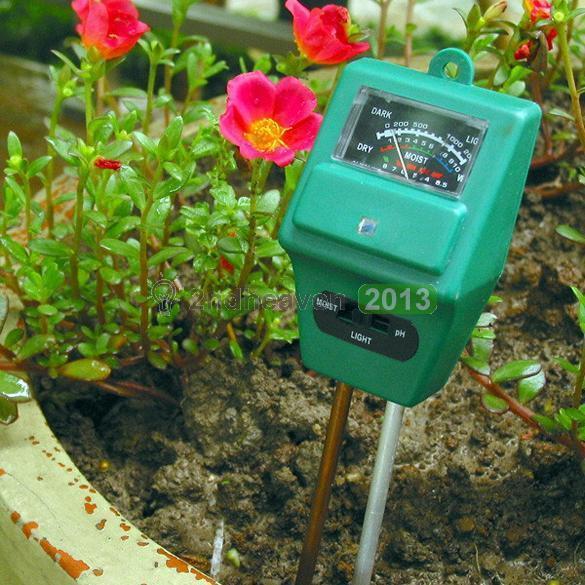 3 in1 Soil Moisture Sunlight PH Digital Meter Tester Garden Plant Flower Lawn