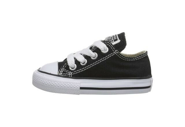 a61c36d1e845 Converse Chuck Taylor All Star Low Top Infant Toddler Babies Canvas Shoes  Black
