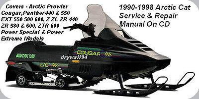 Arctic Cat Snowmobile Service Repair Maintenance Manual 1999-2000 CD-ROM