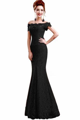 Elegant babyonline Ajustée chuté épaules de bal Dîner robe de soirée. parti