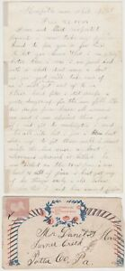 1864 CIVIL WAR Soldier Letter  53rd PA  - Great BATTLE CONTENT  Wounded by Shell