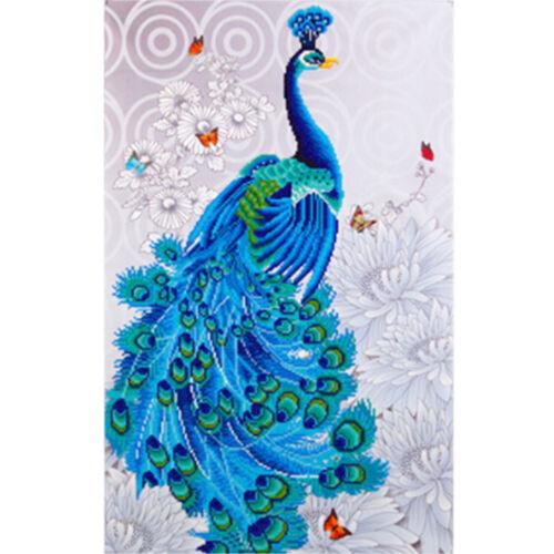 UK 4 Kind Full Drill Peacocks 5D Diamond Painting Embroidery Cross Stitch Kit